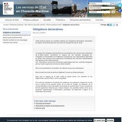 Obligations déclaratives / Pêche professionnelle / Mer, littoral et sécurité maritime / Politiques publiques / Accueil - Les services de l'État en Charente-Maritime