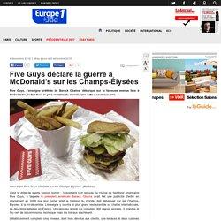 Five Guys déclare la guerre à McDonald'ssur les Champs-Élysées