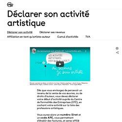 [FR] Déclarer son activité artistique