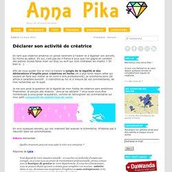 Déclarer son activité de créatrice - Anna Pika