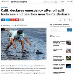 Calif. declares emergency after oil spill fouls sea and beaches near Santa Barbara