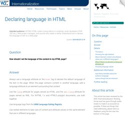 Declaring language in HTML