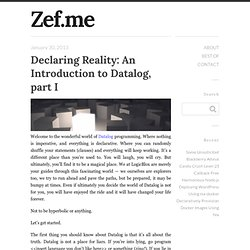 Declaring Reality: An Introduction to Datalog, part I - Zef.me