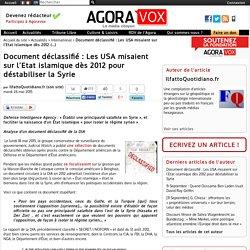 Document déclassifié : Les USA misaient sur l'Etat islamique dès 2012 pour déstabiliser la Syrie