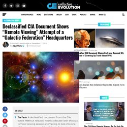 """Declassified CIA Document Shows """"Remote Viewing"""" Attempt of a """"Galactic Federation"""" Headquarters"""