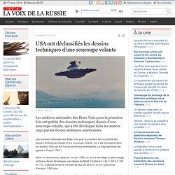 USA ont déclassifiés les dessins techniques d'une soucoupe volante