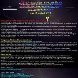 Détecteur optique d'éclairs ou flash pour déclenchement photographique ou flash esclave