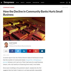 How the Decline in Community Banks Hurts Small Business