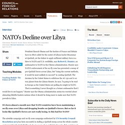 NATO's Decline over Libya