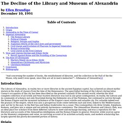 Decline of Library of Alexandria
