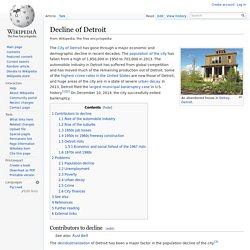 Decline of Detroit