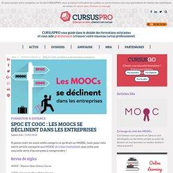 SPOC et COOC : Les MOOCs se déclinent dans les entreprises - Cursuspro