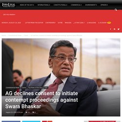 AG declines consent to initiate contempt proceedings against Swara Bhaskar