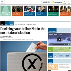 Declining your ballot? Not in federal elections