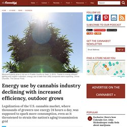 Energy use by cannabis industry declining with increased efficiency, outdoor grows - The Cannabist