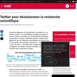 2014/02 - Twitter pour décloisonner la recherche scientifique