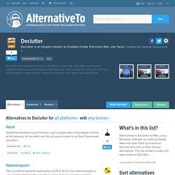 Declutter Alternatives and Similar Software