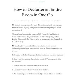 How to Declutter an Entire Room in One Go | Zen Habits