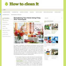 Decluttering Your Home Using Feng Shui Techniques
