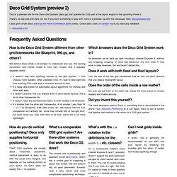 Deco Grid System