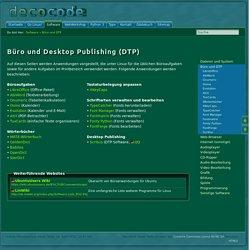 Büro und Desktop Publishing
