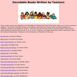 Decodable Books Written by Teachers
