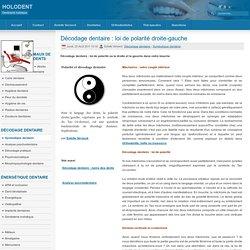 Décodage dentaire : loi de polarité droite-gauche
