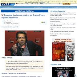 Décodage du discours employé par France-Inter à l'égard d'Asselineau