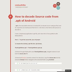 How to decode Source code from .apk of Android