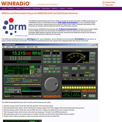 DRM Decoder/Demodulator for G303 and G305 Series
