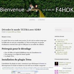 Décoder le mode TETRA avec SDR# – F4HOK