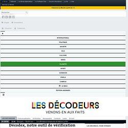 Décodex, notre outil de vérification de la fiabilité des sources, évolue