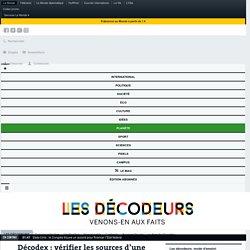 Décodex : vérifier les sources d'une information