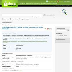 Le Décodex du journal Le Monde : un guide et un outil pour vérifier l'information