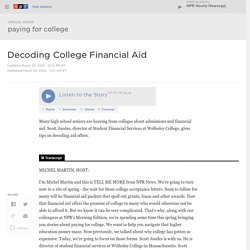 Decoding College Financial Aid