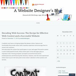 Decoding Web Success: The Recipe for Effective Web Content and a Successful Website
