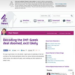 Decoding the IMF: Greek deal doomed, exit likely