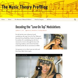 "Decoding the ""Love On Top"" Modulations"