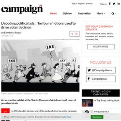Decoding political ads: The four emotions used to drive voter decision