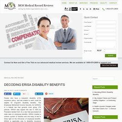 Decoding Employee Retirement Income Security Act (ERISA) Disability Benefits