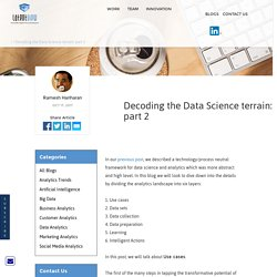 Decoding the Data Science terrain: part 2
