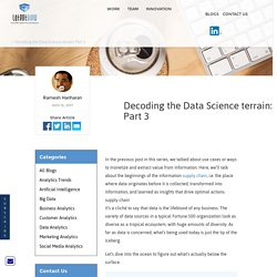 Decoding the Data Science terrain: Part 3