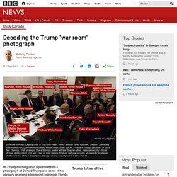 Decoding the Trump 'war room' photograph