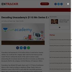 Decoding Unacademy $110 Mn Series E round