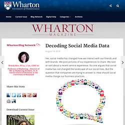 Decoding Social Media Data