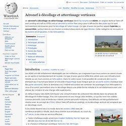Aéronef à décollage et atterrissage verticaux