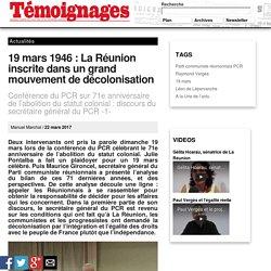19 mars 1946: La Réunion inscrite dans un grand mouvement de décolonisation - Actualités