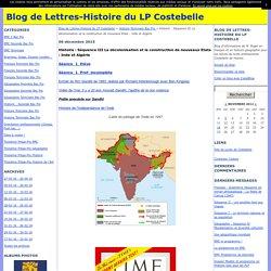 Histoire : Séquence III La décolonisation et la construction de nouveaux Etats : Inde et Algérie - Blog de Lettres-Histoire du LP Costebelle