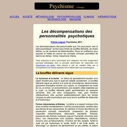 Les décompensations des personnalités psychotiques