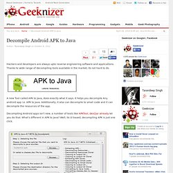 Decompile Android APK to Java